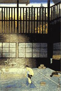 大正期の住吉屋浴室風景